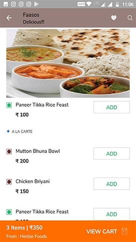 Food Menu App Image
