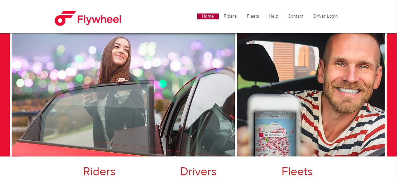 flywheel rideshare app