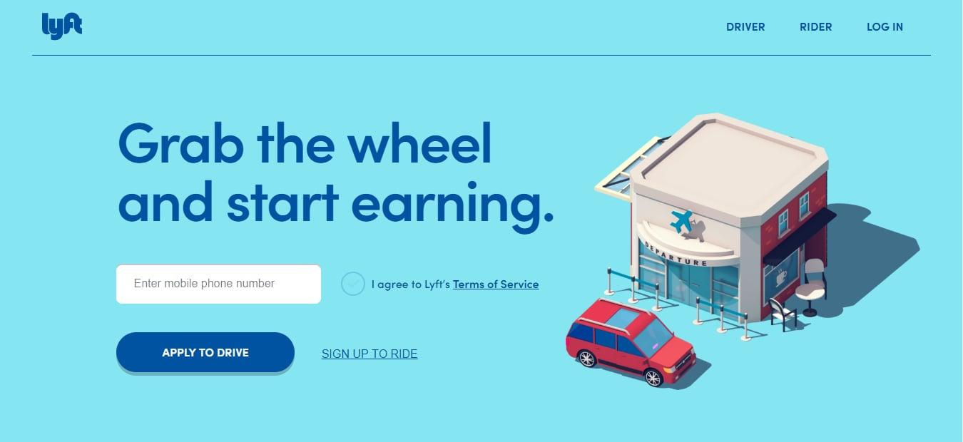 Lyft rideshare app