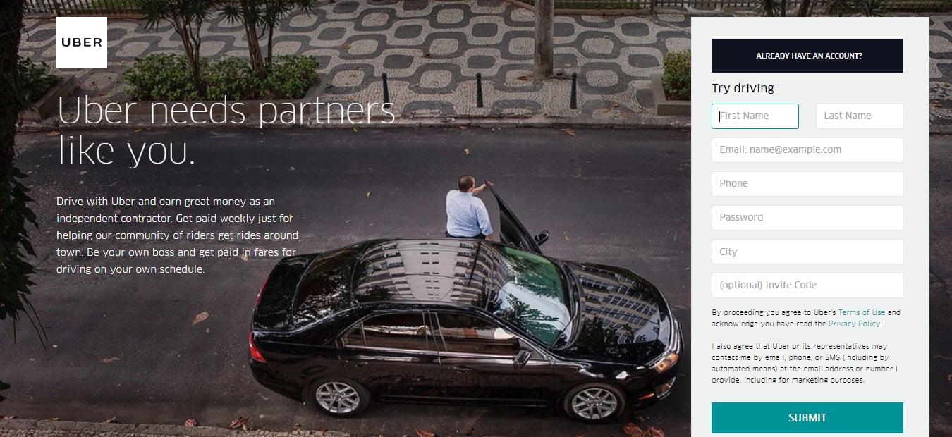 uber rideshare app