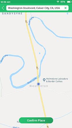 Set Map Location