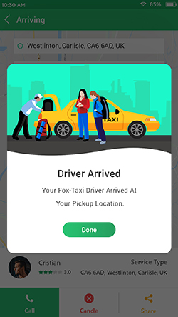 Popup-Driver-Arrived