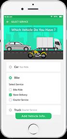 Gojek Driver Mockup