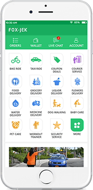 Gojek User Mockup