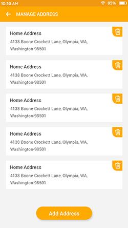 Manage Address