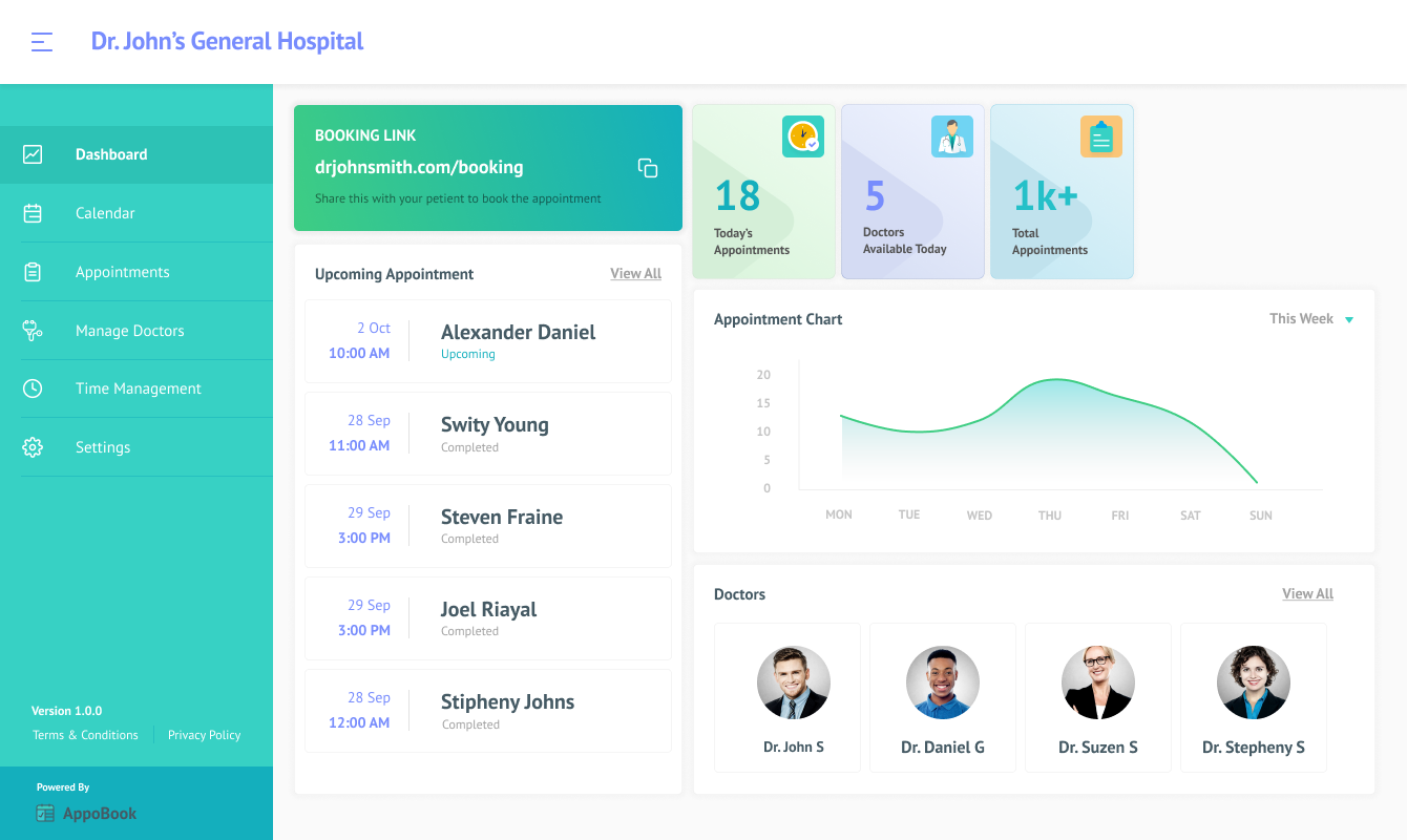 doctor dashboard