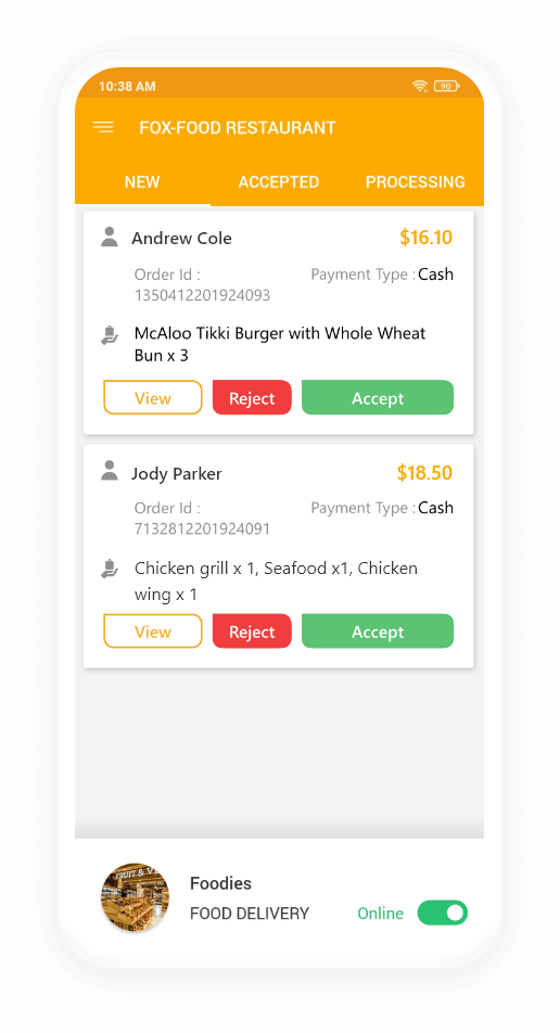 store manage order