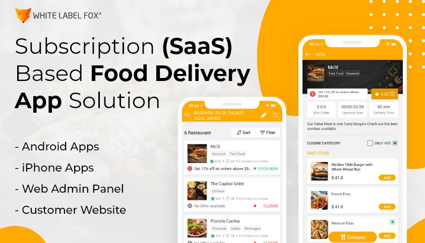 Saas Food Delivery App